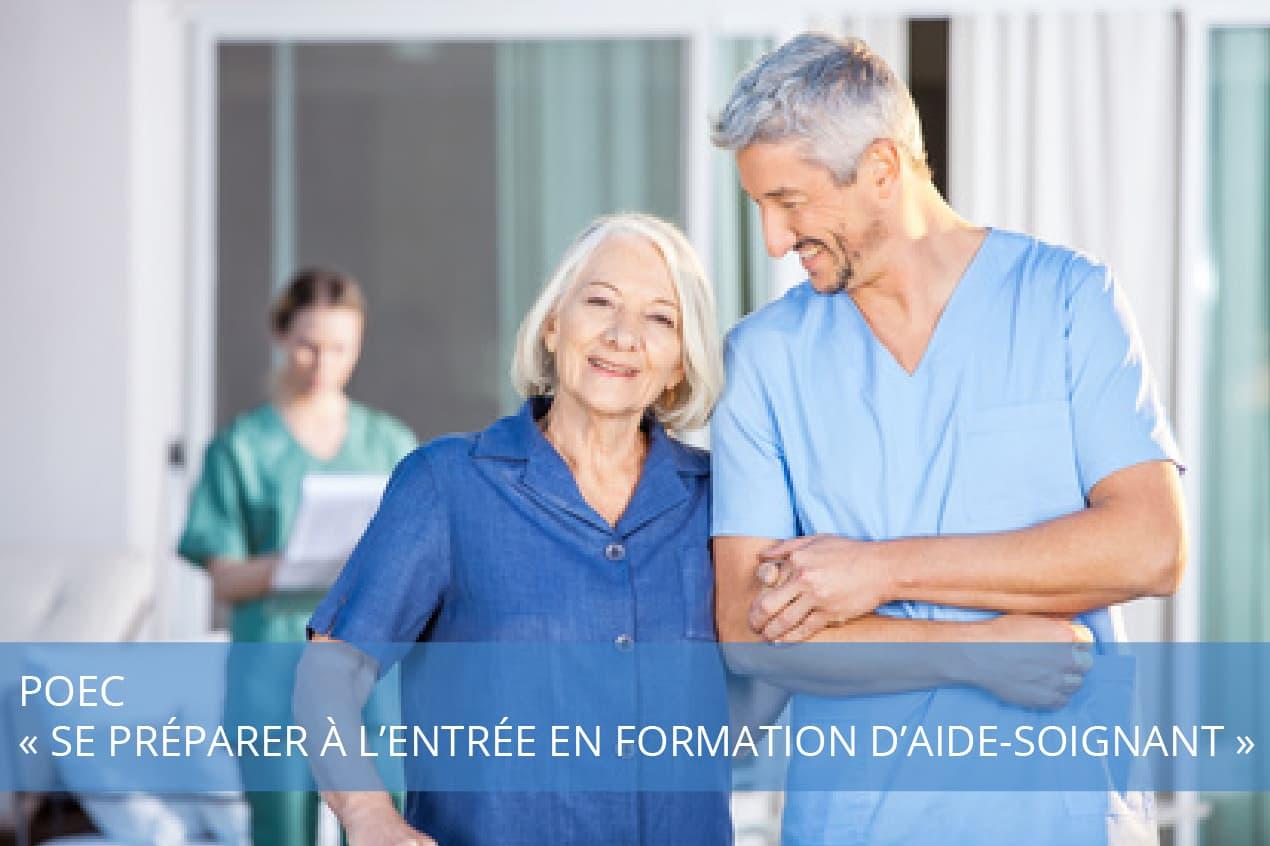 POEC « Se Préparer à l'entrée en formation d'aide-soignant »