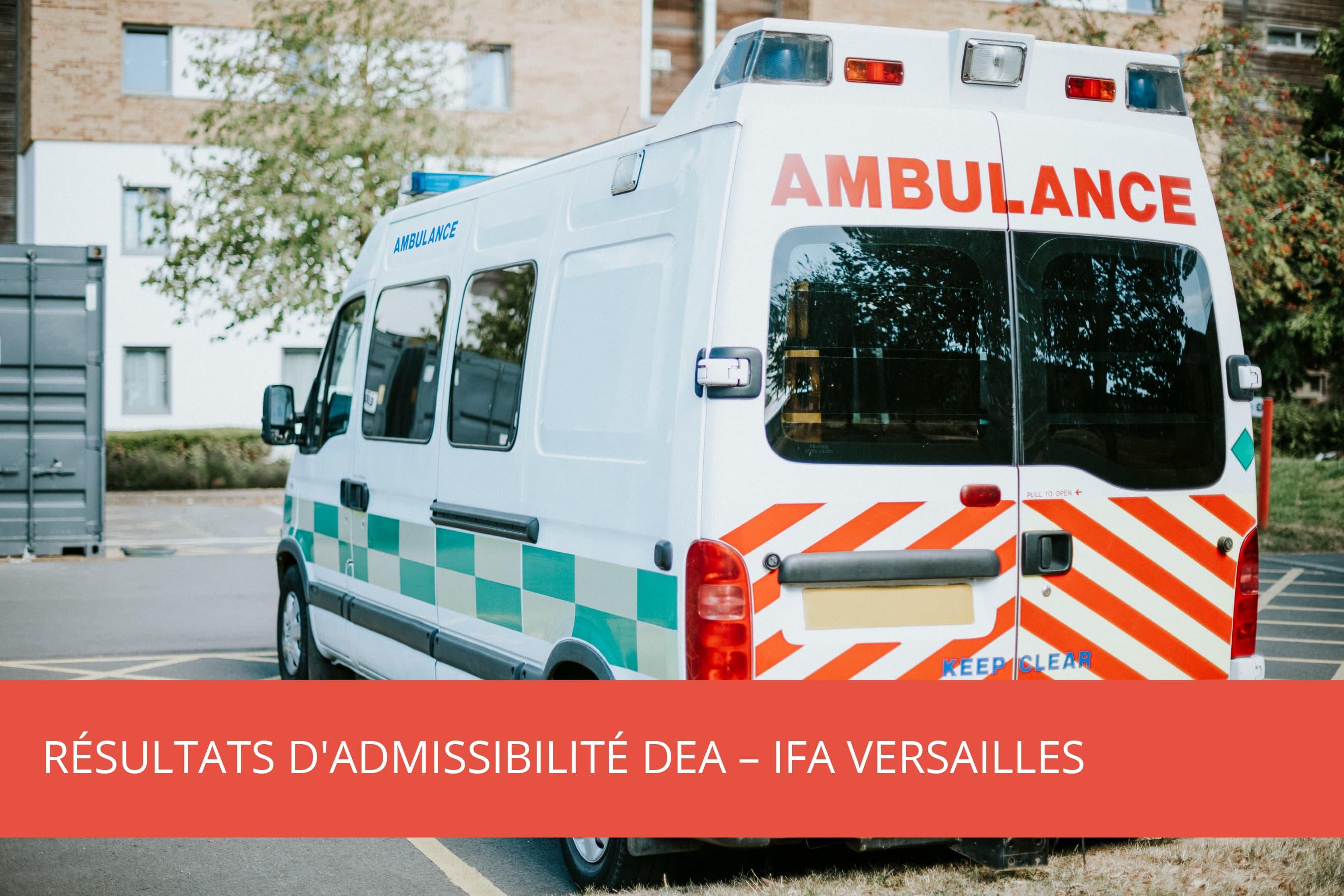 Résultats d'admissibilité DEA – IFA Versailles